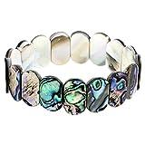 Falari Abalone Stretch Elastic Bracelet Round B0550