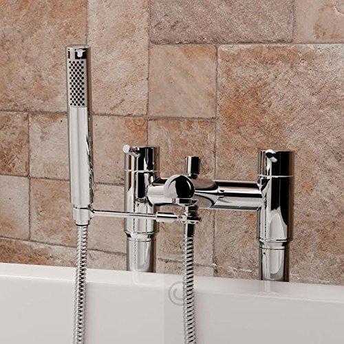 Universal Handset Arm Holder for Bath Shower Mixer Filler Taps   in Chrome with Standard 1.5m Hose Cassellie