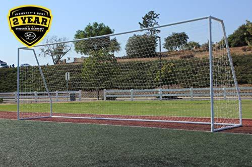 (G3Elite Pro 24x8 Regulation Soccer Goal, (1) 3.5mm White Net, Portable, Strongest 2
