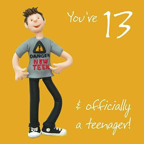 Boys 13th Birthday Greeting Card One Lump Or Two Range Holy Mackerel