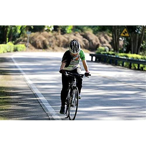 Women's Short Sleeve Cycling Jersey Jacket Moisture Wicking Outdoors Sports Shirt Quick Dry Breathable Mountain Clothing Bike Top Colored Dots Decoration