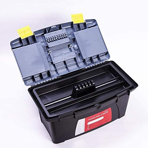 490x290x250mm大型プラスチックツールボックスホーム電気技師車の修理ツールボックスのハードウェアツールボックスダブルレイヤー収納ボックススーツケース