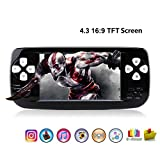 Anbernic Handheld Game Console , 4.3'' 16GB 3000 Classic Portable Game Console Pap-KIII , Support GBA / GBC / GB / Sega / NES / SFC / NEOGEO , Birthday Presents for Children (Black)