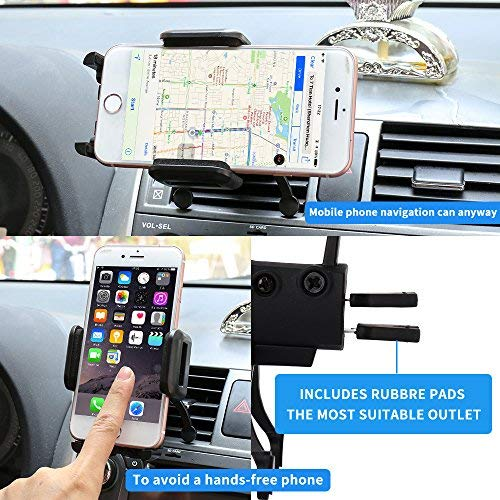 Car Mount,SGRICE Air Vent Car Phone Mount Holder Cradle Compatible for iPhone Xs//XS MAX//XR//X//8//8Plus//7//7Plus//6s//6Plus//5s,Samsung Galaxy S9//S8//S7 Edge and Other Smartphones 4336323637