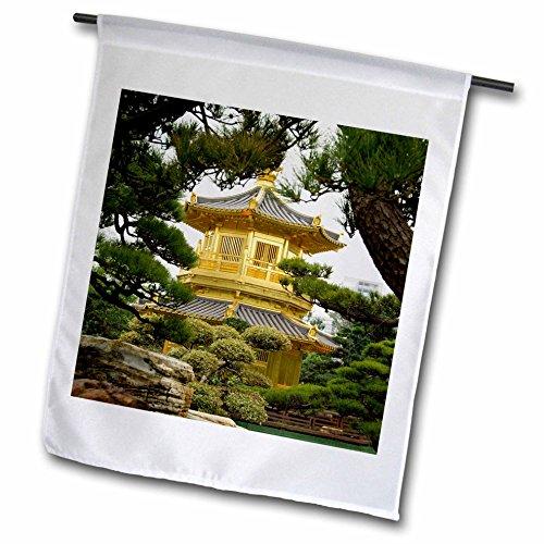 3dRose fl_74073_1 Hong Kong/New Territoris/Nan Lian Garden AS07 CMI0256 Cindy Miller Hopkins Garden Flag, 12 by 18-Inch