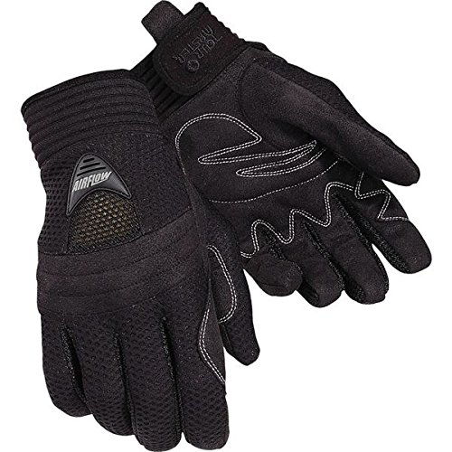 Tour Master Airflow Men's Textile Sports Bike Motorcycle Gloves - Black / 2X-Large