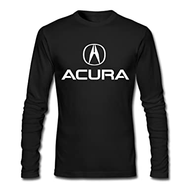 Amazoncom FZLB Mens Acura Logo Long Sleeve TShirt Black Clothing - Acura shirt