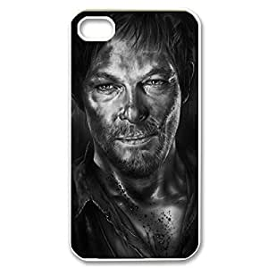 Fancy The Walking Dead Daryl Dixon Lightweight Printed Hard Plastic case Snap-on The Walking Dead cover for iphone 5 5s 4g- White 022711