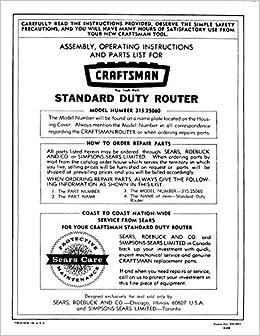 craftsman router manual download