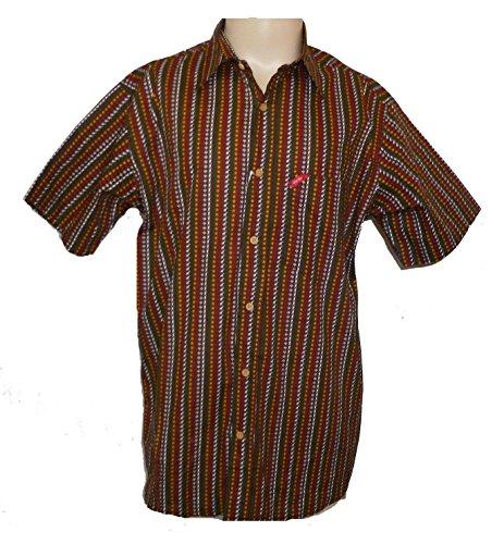 Lrg Image (LRG Wovens Lifted Research Group Brown Rasta Cotton Shirt (XL))