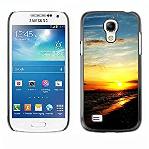 Paccase / SLIM PC / Aliminium Casa Carcasa Funda Case Cover - Sunset Beautiful Nature 111 - Samsung Galaxy S4 Mini i9190 MINI VERSION!
