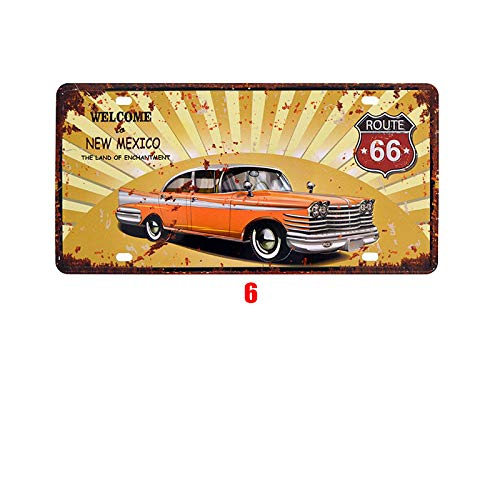 Novelty Funny Sign New Mexico Route 66 Vintage Retro Metal Tin Sign Wall Sign Plaque Poster for Home Bathroom Road Cafe Bar Pub,Wall Decor Car License Plate Souvenir 3-21 ()