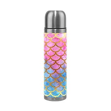 Amazon.com: Mermaid Scale Thermos Botella de agua para niños ...
