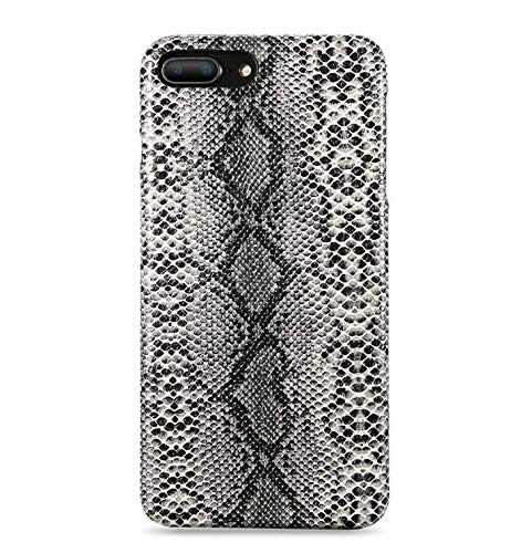 Monicas-house Snake Skin Phone Case for iPhone 8 7 6s Plus Case Hard PC Retro Case for iPhone 6 6 S Plus X XS MAX 5 5S Cover Fundas,Black,for iPhone Xs MAX (Iphone 5 S Case London)