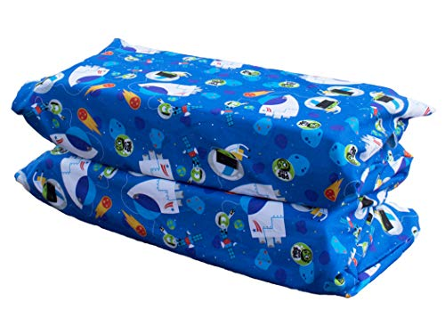 100% Cotton Explorer (KinderMat PBS Kids Full Cover Sheet, Pillowcase Style Sheet Fits Basic (5/8