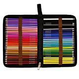Arts & Crafts : US Art Supply 50 Piece Adult Coloring Book Artist Grade Colored Pencil Set, Plastic Carry Case and Bonus Zippered Carry Case