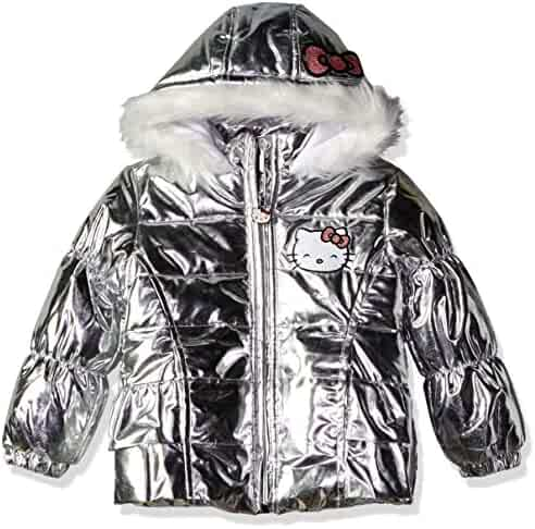 6a8ba3db8 Hello Kitty Baby Girls All Over Printed Puffer Jacket with Fur Trim Hood