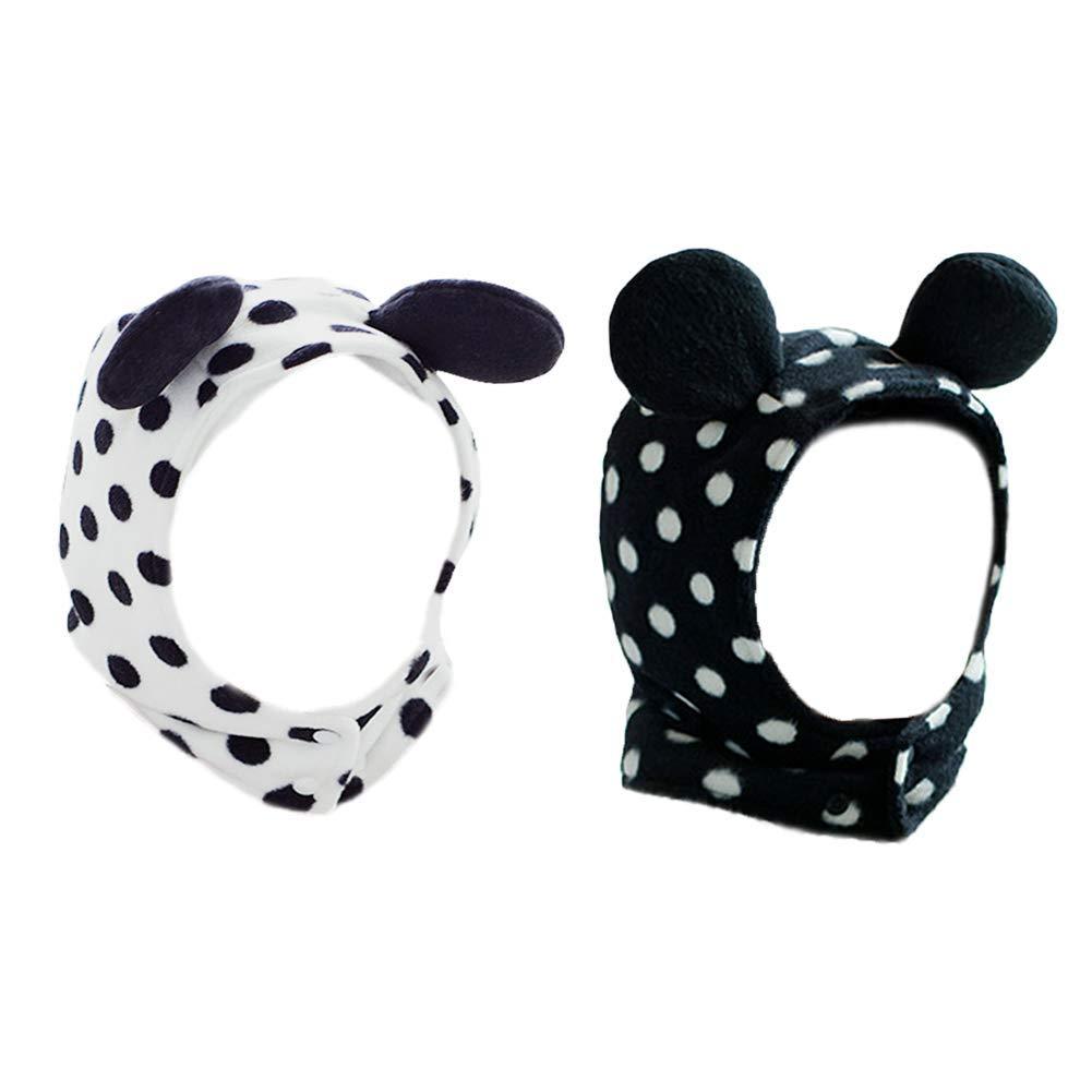 IvyFun Toddler Boy Fall Winter Hat Baby Beanie Warm Soft Cozy Cute Panda Ear with Bib