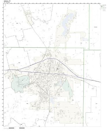 Amazon Com Zip Code Wall Map Of Abilene Tx Zip Code Map Not