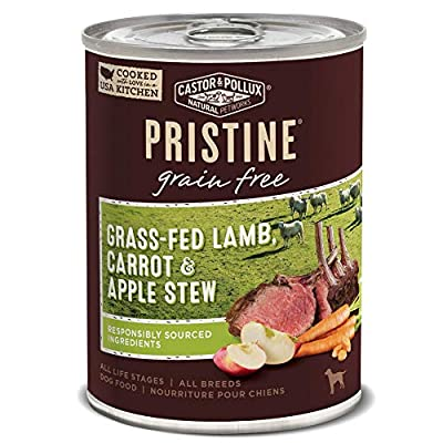 Castor & Pollux Pristine Grain Free Grass-Fed Lamb, Carrot & Apple Stew Wet Dog Food