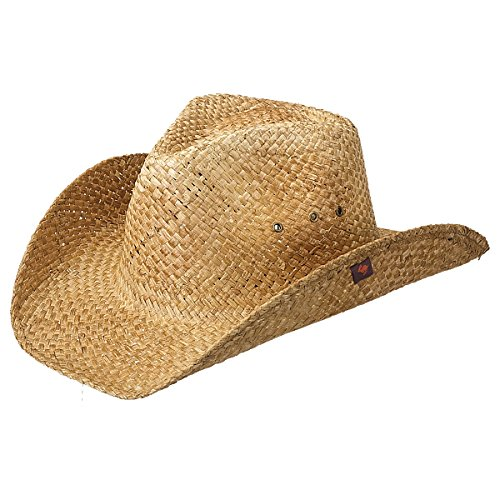 Peter Grimm Men's Maverick Drifter Hat, Brown, One Size Distressed Straw Cowboy Hat