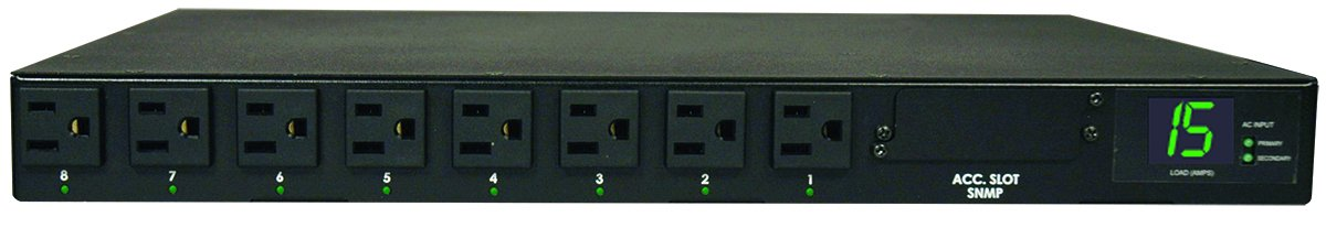 13 Outlets PDU1215 1U Rack-Mount Power 15A 5-15R 5-15P Input 120V Tripp Lite Basic PDU 15 ft Cord