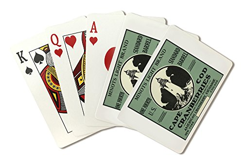 Cape Cod, Massachusetts - Minots Light Brand Cranberry Label (Playing Card Deck - 52 Card Poker Size with Jokers)