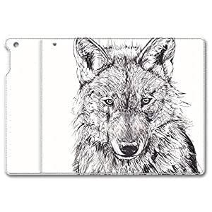 Brain114 iPad Air Case - Best Protective Leather Case for iPad Air Pen Draw Wolf Customized Design iPad Air Leather Case and Cover by icecream design