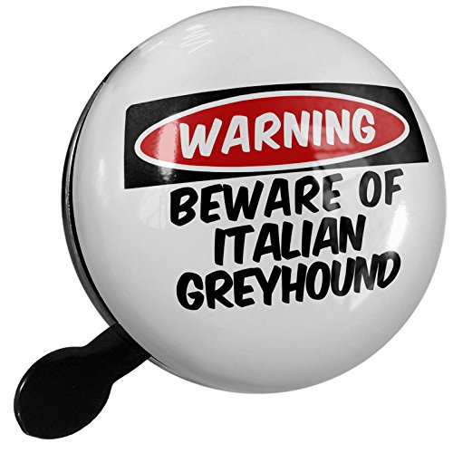 Small Bike Bell Beware of the Italian Greyhound Dog from Italy - NEONBLOND by NEONBLOND