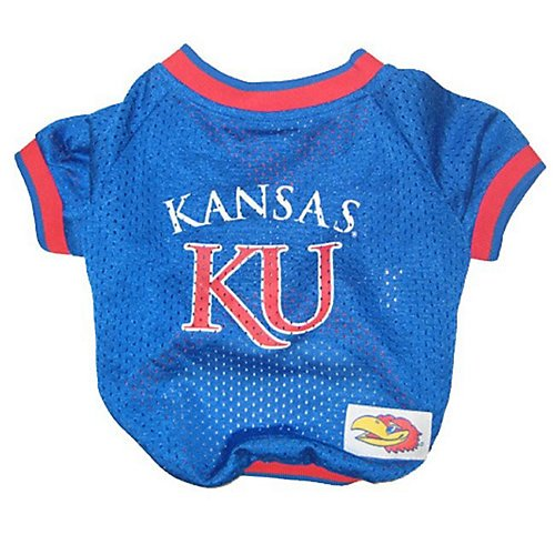 Mirage Pet Products Kansas Jayhawks Jersey for Dogs and Cats, Small