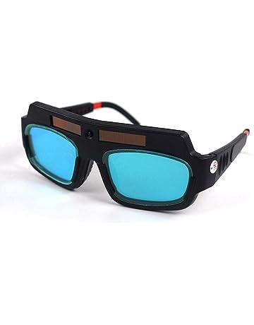 TEEPAO Gafas de Soldar Luz Automática de Energía Solar, Gafas de Protección para Soldar,