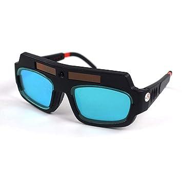 TEEPAO Gafas de Soldar Luz Automática de Energía Solar, Gafas de Protección para Soldar, Doble Filtro para Evitar Daños de Soldadura en los Ojos: Amazon.es: ...