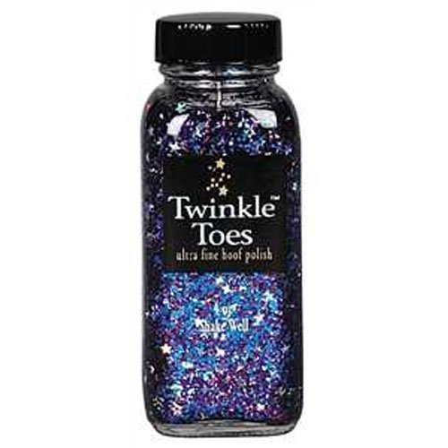 Sparkle Lacquer - Twinkle Glitter Products Toes Hoof Polish, Rainbow Stars, 4oz