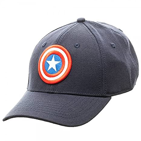 captain america winter soldier baseball cap amazon marvel flex fit active hat new clothing civil war red blue 39thirty