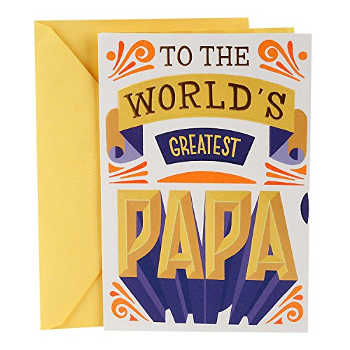 Hallmark Father's Day Greeting Card for Grandpa from Child or Kids (World's Greatest Papa)