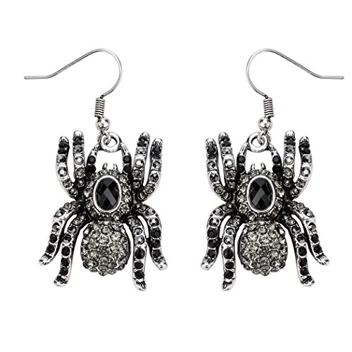 Szxc Jewelry Spider Dangle Earrings Halloween Gifts for Women Teen -