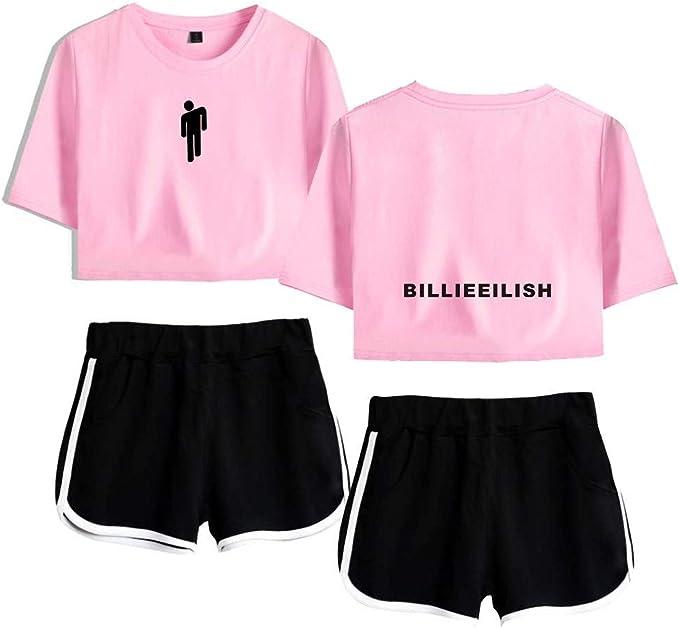 Billie Eilish Sport T Shirt Shorts Sport T Shirts Und Shorts Die Fur Musikfans Geeignet Sind Unterstutzen Das Joggen Von Yoga Fitness Kleidung Color 19 Size Xxl Amazon De Bekleidung