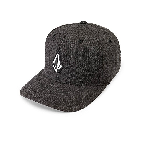 volcom-mens-full-stone-heather-flexfit-stretch-twill-hatcharcoal-heatherlarge-x-large