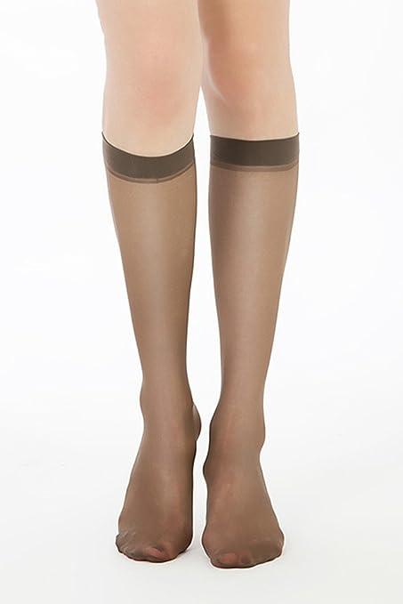 10 pares de calcetines de tubo de verano ultrafino anti-gancho de seda sexy antideslizante