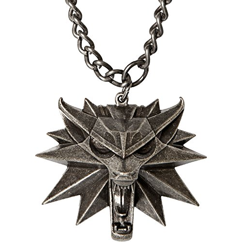 JINX The Witcher 3 Necklace with Wild Hunt Medallion & Chain
