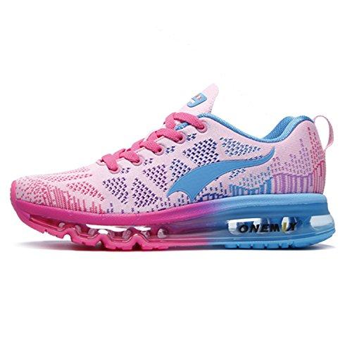 Onemix Zapatillas de Running en Asfalto Aire Libre y Deportes Exterior Zapatos para Correr Mujer Rosa