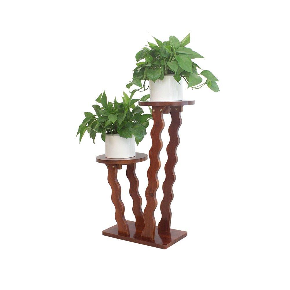 Gartenmöbel-Sets YQ QY Multilayer Blumenständer Aus Massivem Holz Wohnzimmer Prägnant Balkon Blumenständer Glatte Oberfläche Farbe : B Möbel & Wohnaccessoires