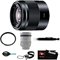 Sony SEL50F18 SEL50F18/B 50mm f/1.8 Lens with Tiffen 49mm UV Protector Filter and Accesories