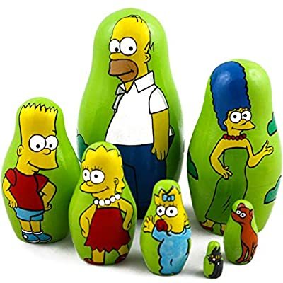 Matryoshka Dolls Characters of The Famous Animated Sitcom The Simpsons Set 7 pcs: Toys & Games
