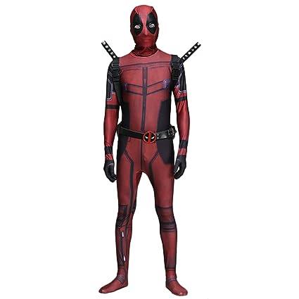 QQWE Marvel Deadpool Traje De Cosplay Body Halloween Adulto Niño Traje De  Lujo Traje Trajes De 3c5aff994a89