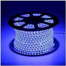 1-100m 5050 SMD 60 LED Strip Light 110v High Voltage Flexible IP67 Waterproof Blue 15m = 50 ft