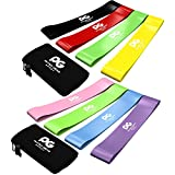 Physix Gear Sport Resistance Loop Bands Set 4 - Best Home Fitness Exercise Bands for Legs, Crossfit Workout, Physical Therapy, Pilates, Yoga & Rehab - Improve Mobility and Strength - 10in x 2in PGBP