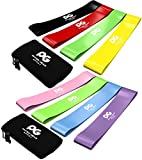 Physix Gear Sport Resistance Loop Bands Set 4 - Best Home Fitness Exercise Bands for Legs, Crossfit Workout, Physical Therapy, Pilates, Yoga & Rehab - Improve Mobility and Strength (Purp Grn Blu Pnk)