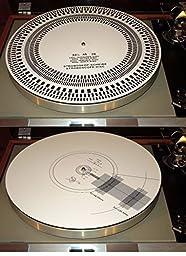 Acrylic Turntable Mat Cartridge Alignment Protractor Strobe Disc Stroboscope