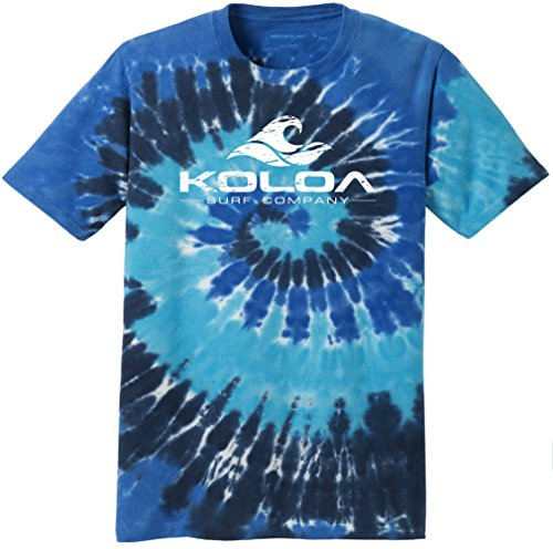 Koloa Surf(tm) Vintage Wave Colorful Tie-Dye T-Shirt,2XL-Ocean Rainbow